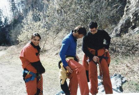 Gearing up for Speleology with friends