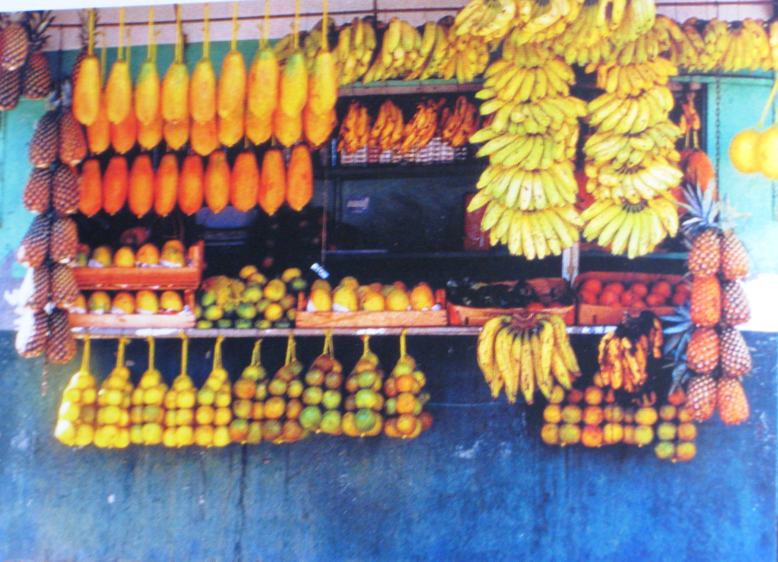 Roadside fruit stall - Aguas Calientes