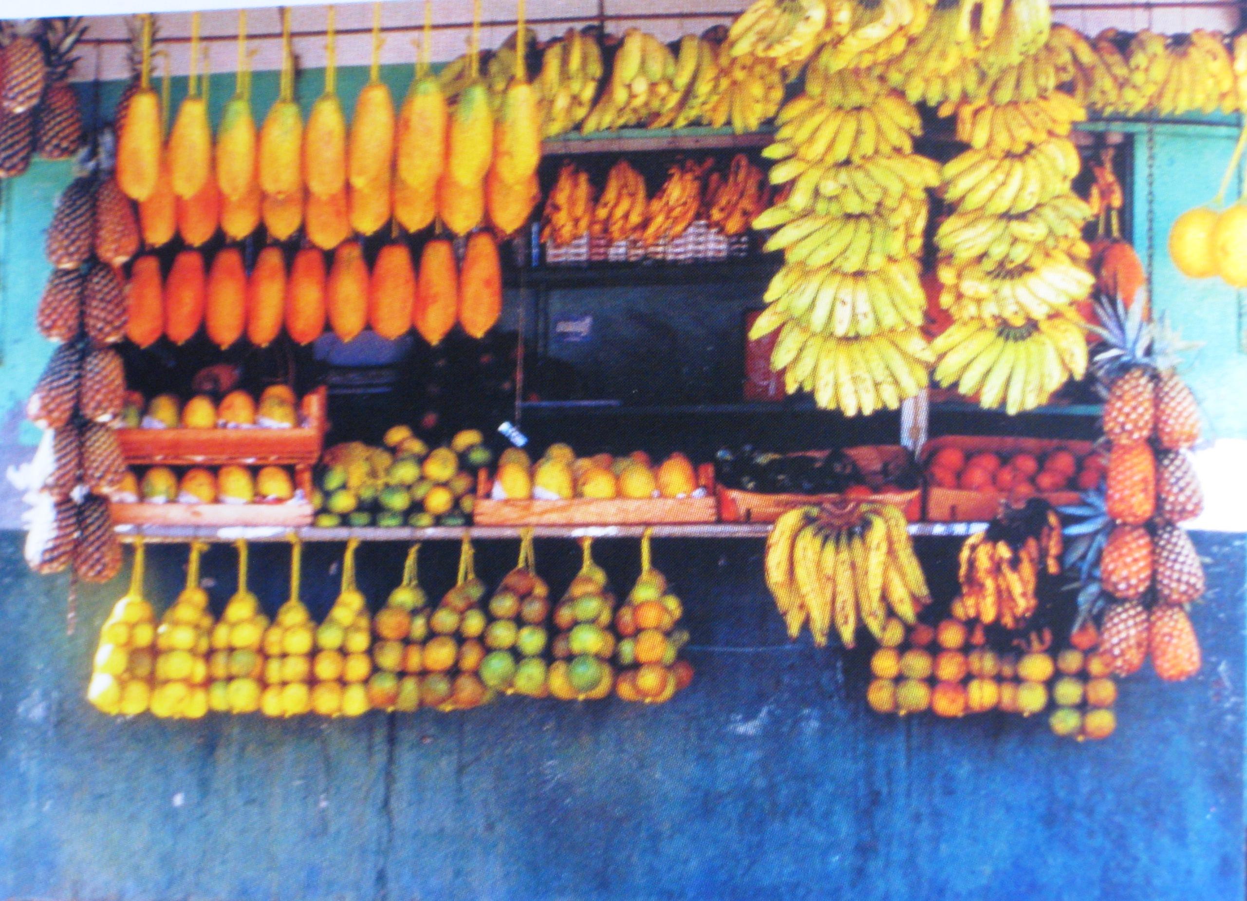 Roadside fruit stall - Aguas Calientes