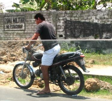 Motorcycle seen very commonly in India