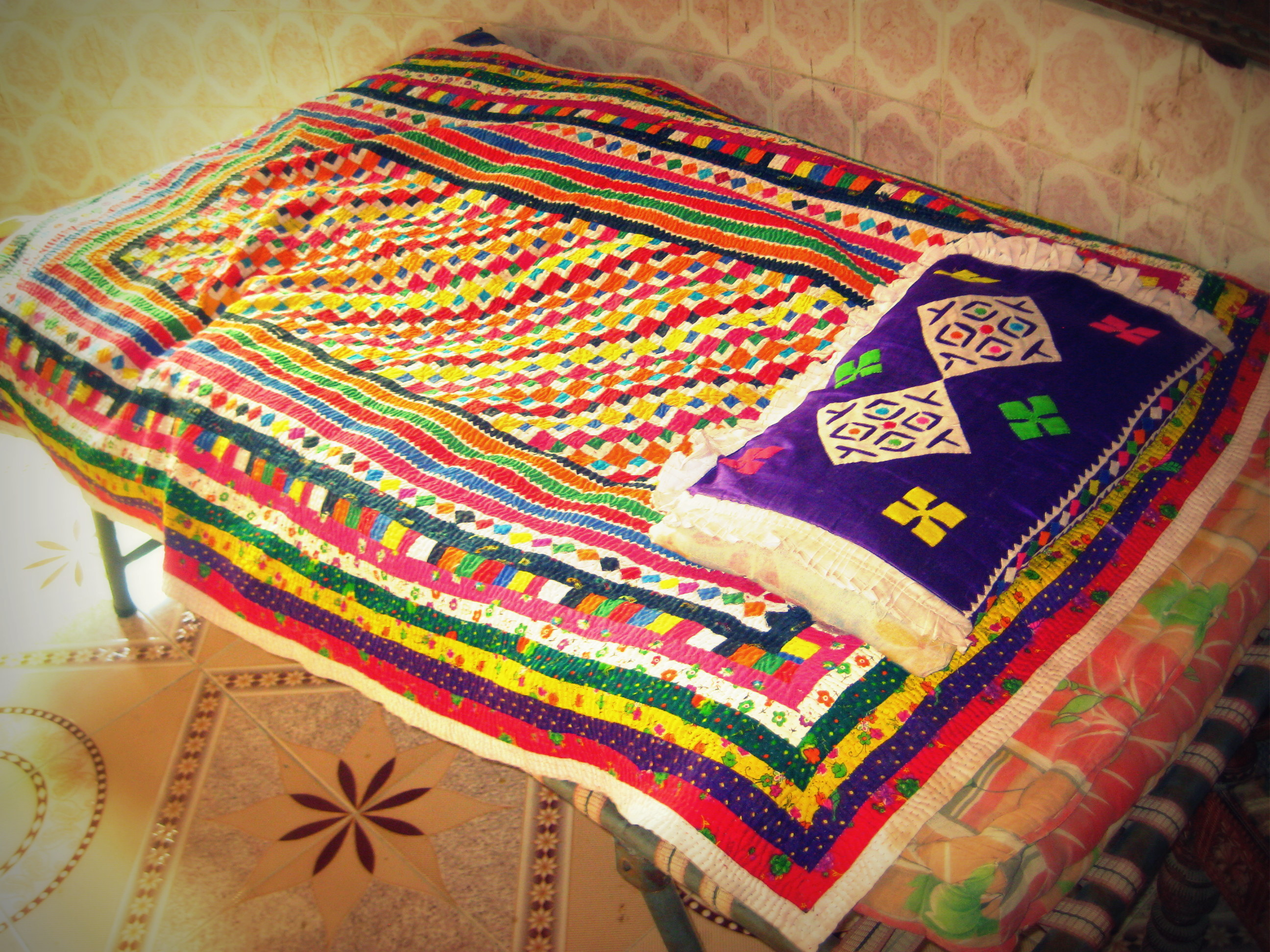 Embroidery of the Jats commonly called Kambri Bharat.