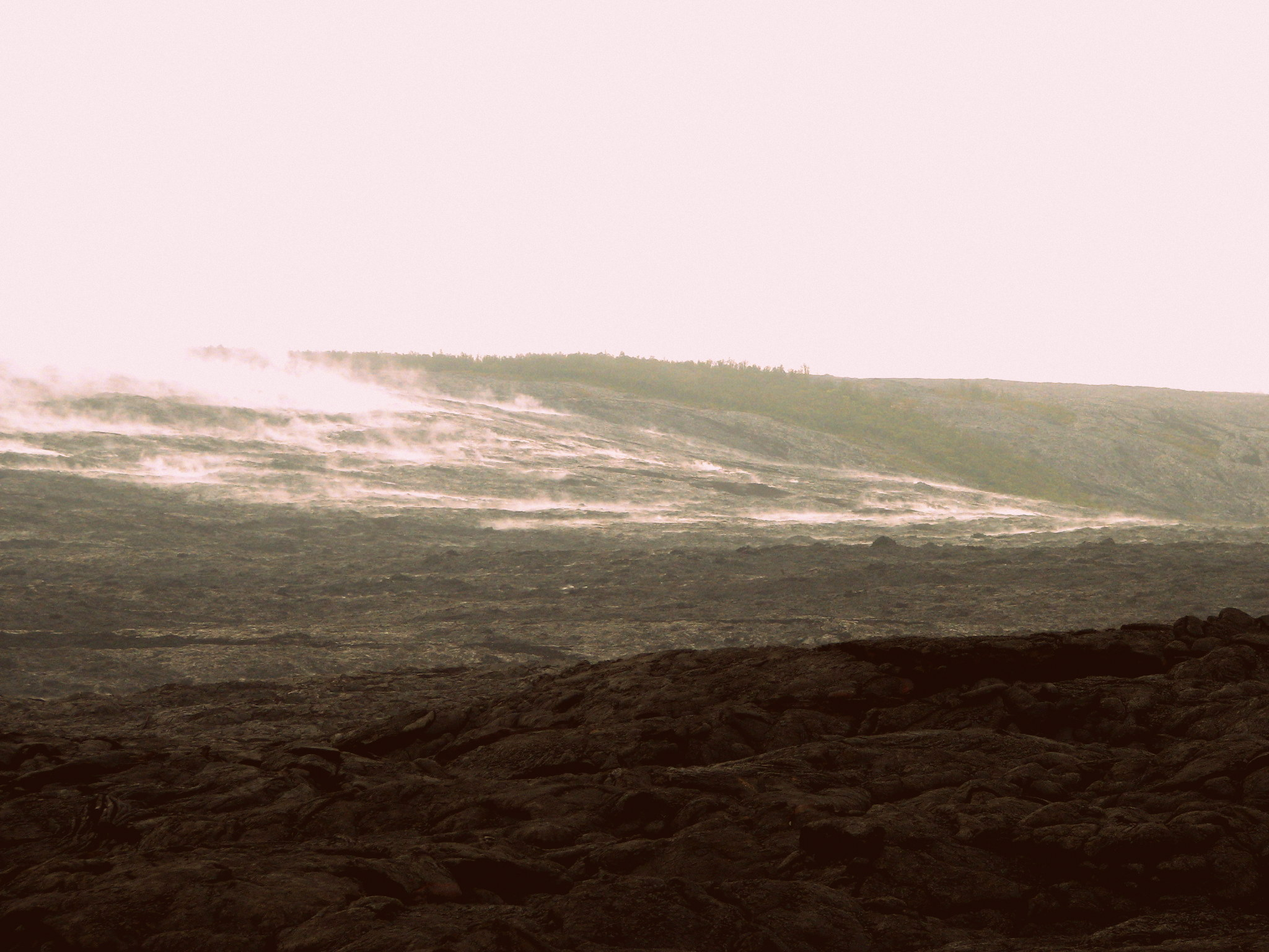 The ever flowing Magma which expands the Big Island.