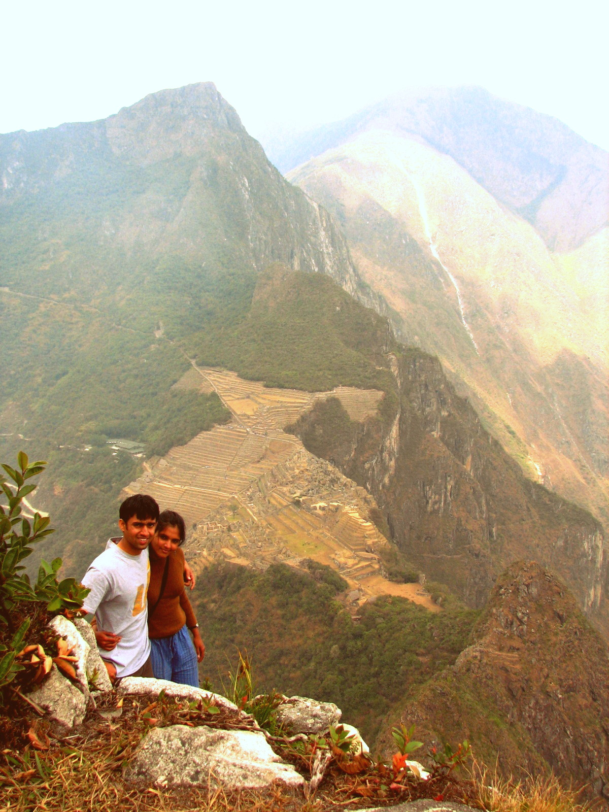 View of the Machu Picchu from the Wayna Picchu